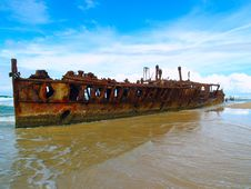 Free Maheno Wreck Stock Photography - 6705312