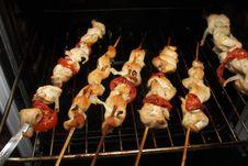 Chicken Kebab Stock Image