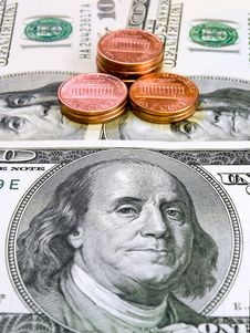 Free Dollars And Penny Stock Photography - 6706882