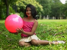 Free Asian Girl In The Park Stock Images - 6707024