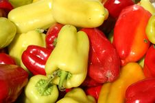 Free Bunch Of Sweet Bell Peppers Backgound Stock Images - 6707344