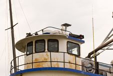Free Old Tug Cabin With Seagull Stock Photos - 6708213