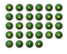 Free Buttons For Web Applications Stock Image - 6708531