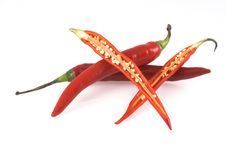 Free Red Chili Peppers. Royalty Free Stock Photos - 6708928