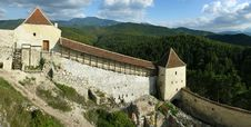 Rasnov Fortress Walls In Romania Stock Images