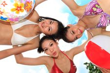 Free Asian Girls Have Fun Under The Sun Stock Image - 6709701