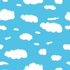 Seamless Pattern Consisting Of Clouds Royalty Free Stock Photos