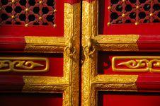 Free Chinese Door Royalty Free Stock Image - 6710846