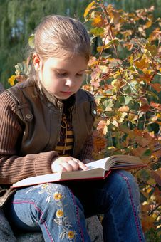 Free Girl Reading A Book Stock Photo - 6711150