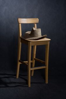 Chair And Western Hat Royalty Free Stock Photo