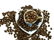 Free Cup With Coffee Grains Royalty Free Stock Photo - 6711365
