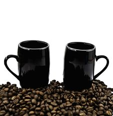 Free Cups And Coffee Grains Royalty Free Stock Photos - 6711368