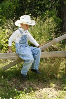 Free Little Cowboy 3 Royalty Free Stock Photo - 6712245