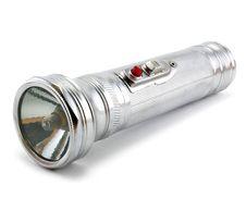 Free Electric Pocket Flashlight Isolated Stock Photos - 6712443