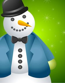 Free Big Snowman Border 2 Royalty Free Stock Photo - 6712565