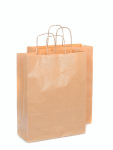 Two Ecological Paper Bags Royalty Free Stock Images