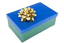 Christmas Package Adorned With Bow Royalty Free Stock Photo