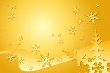 Free Golden Snowflake Decoration Stock Images - 6713094