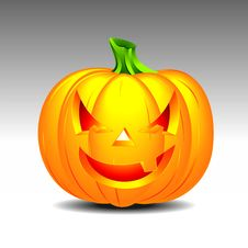 Free Vector Illustration On A Halloween Theme Royalty Free Stock Image - 6713296