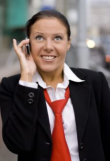 Free Businesswoman Speaking By Phone Royalty Free Stock Photography - 6713777