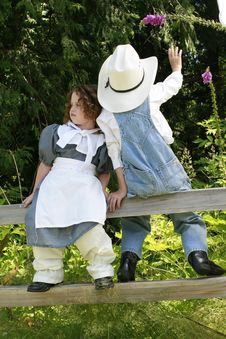 Cowboy And Prairie Girl 3 Royalty Free Stock Images