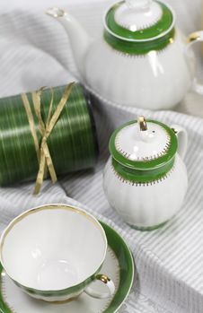 Free Tea Service And Gift Box Stock Image - 6714111
