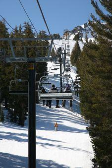 Free Climbing On A Ski Lift Stock Photo - 6714290