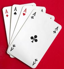 Free Four Aces Royalty Free Stock Image - 6714686