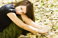 Free Young Woman In Autumn Background Stock Photos - 6715083