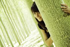 Free Smiling In The Forest Stock Photos - 6715093