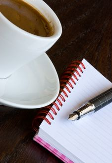 Free Coffee And Notebook Stock Photography - 6716412