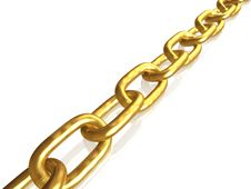 Gold Chain Stock Photo