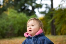 Free Baby Girl In Park Stock Photography - 6718352