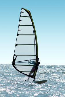 Free Windsurfer On Waves Royalty Free Stock Photos - 6718948