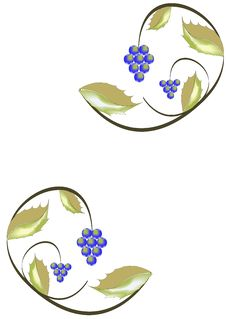 Free Foliage And Clusters Of Grapes. Royalty Free Stock Photo - 6718975