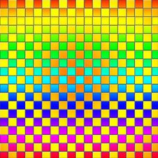Colorful Mosaic Tile Wall Background Stock Image