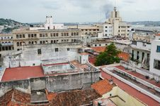 Red Roofs Of Havana Royalty Free Stock Photos