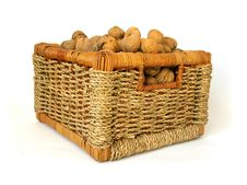 Free Basket Of Nuts On White Background Royalty Free Stock Photos - 6719588