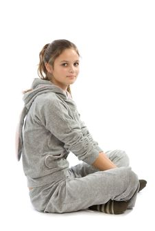 Free Young Teenage Girl Siting Stock Images - 6719704