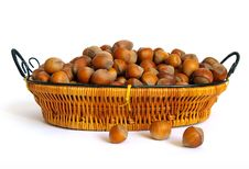 Free Wood Nuts On White Background Royalty Free Stock Images - 6719719