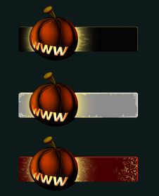 Free Pumpkin Banner Royalty Free Stock Photography - 6719977