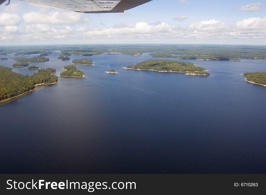 Lake and islands