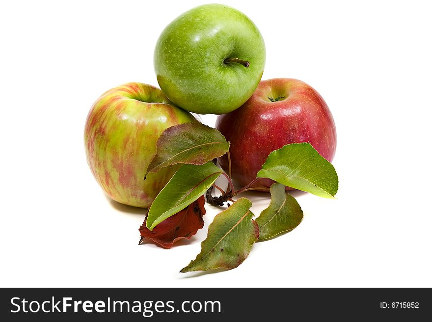 Gala and Granny Smith apples