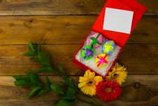 Free Easter Eggs With Ribbon Stock Photography - 67152572