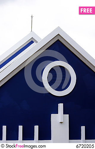 Free A Part Of House With Blue Color And White Color Royalty Free Stock Photo - 6720205