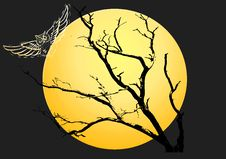 Free Tree And Owl Illustration Royalty Free Stock Photography - 6720317