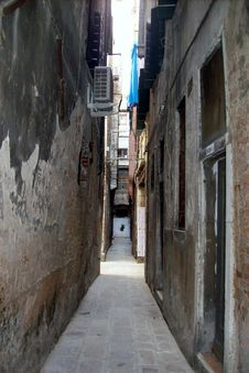 Narrow Alley. Stock Photography