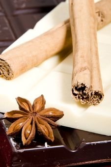 Free Chocolate And Spices Stock Photography - 6720602