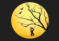 Halloween Witch Background 2 Royalty Free Stock Photos