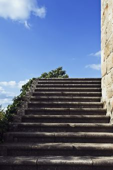 Granite Stairway Royalty Free Stock Photos